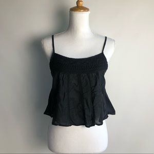 TNA Aritzia Embroidered Cropped Camisole - sz M